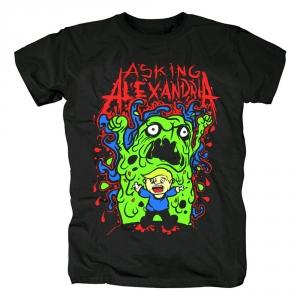 Merch T-Shirt Asking Alexandria Green Monster