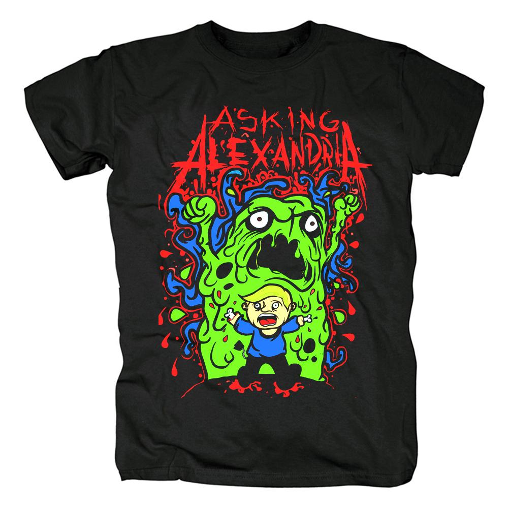 Merchandise T-Shirt Asking Alexandria Green Monster