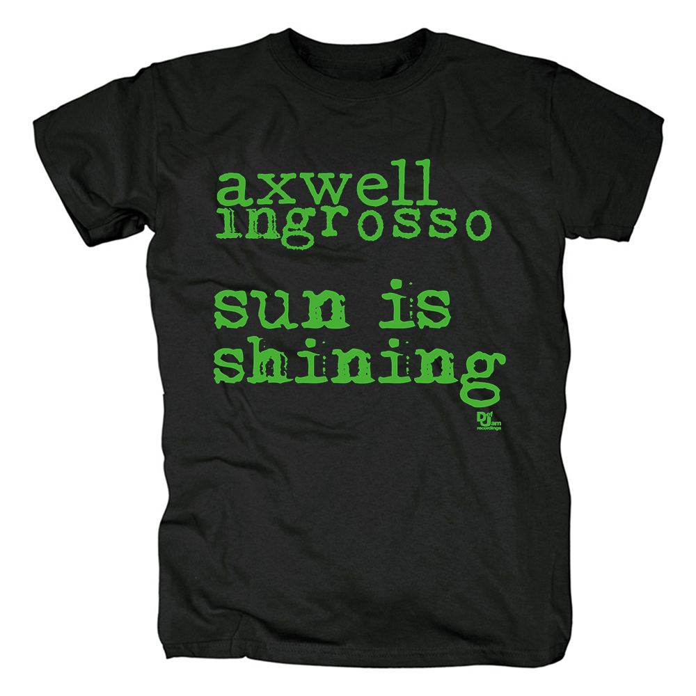 Merch T-Shirt Axwell Λ Ingrosso Sun Is Shining Black