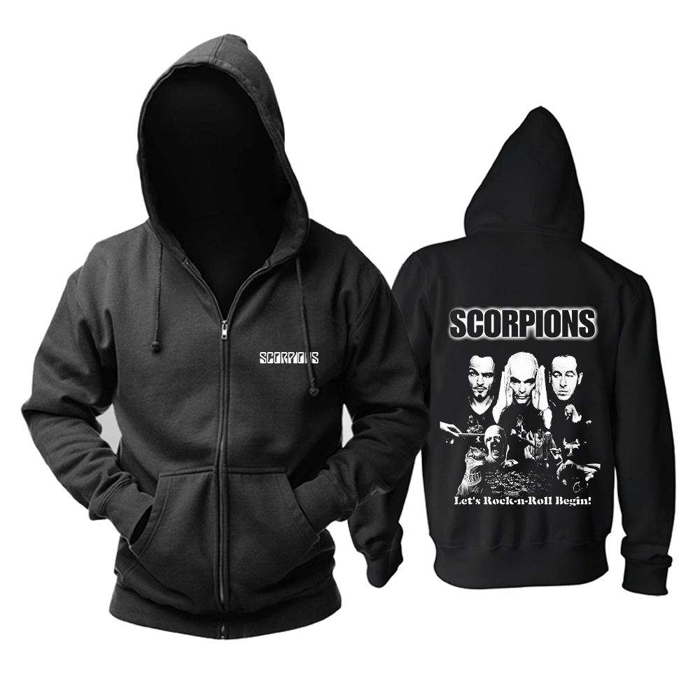 Collectibles Hoodie Scorpions Lets Rock'N'Roll Begin Pullover