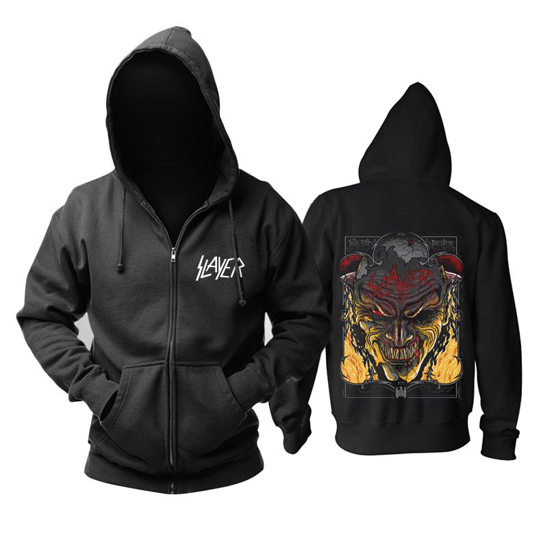 Merch Slayer Hoodie Black Printed Pullover