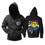 Merch Hoodie Blink-182 Rock Band Logo Black Pullover