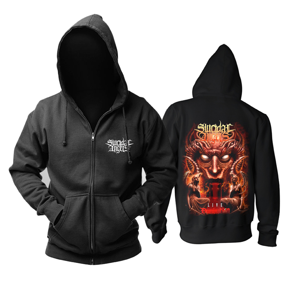 Merch Hoodie Suicidal Angels Domination Live Pullover