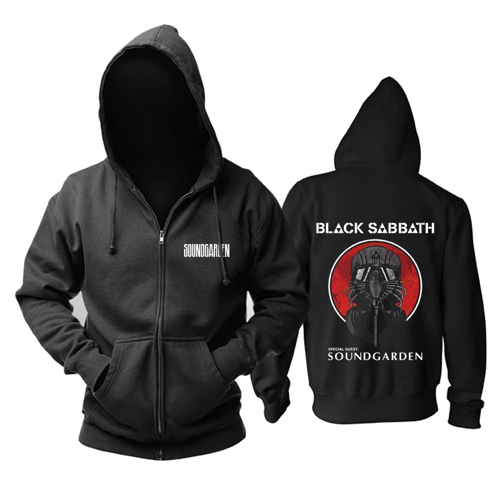 Merch Hoodie Soundgarden Black Sabbath Pullover