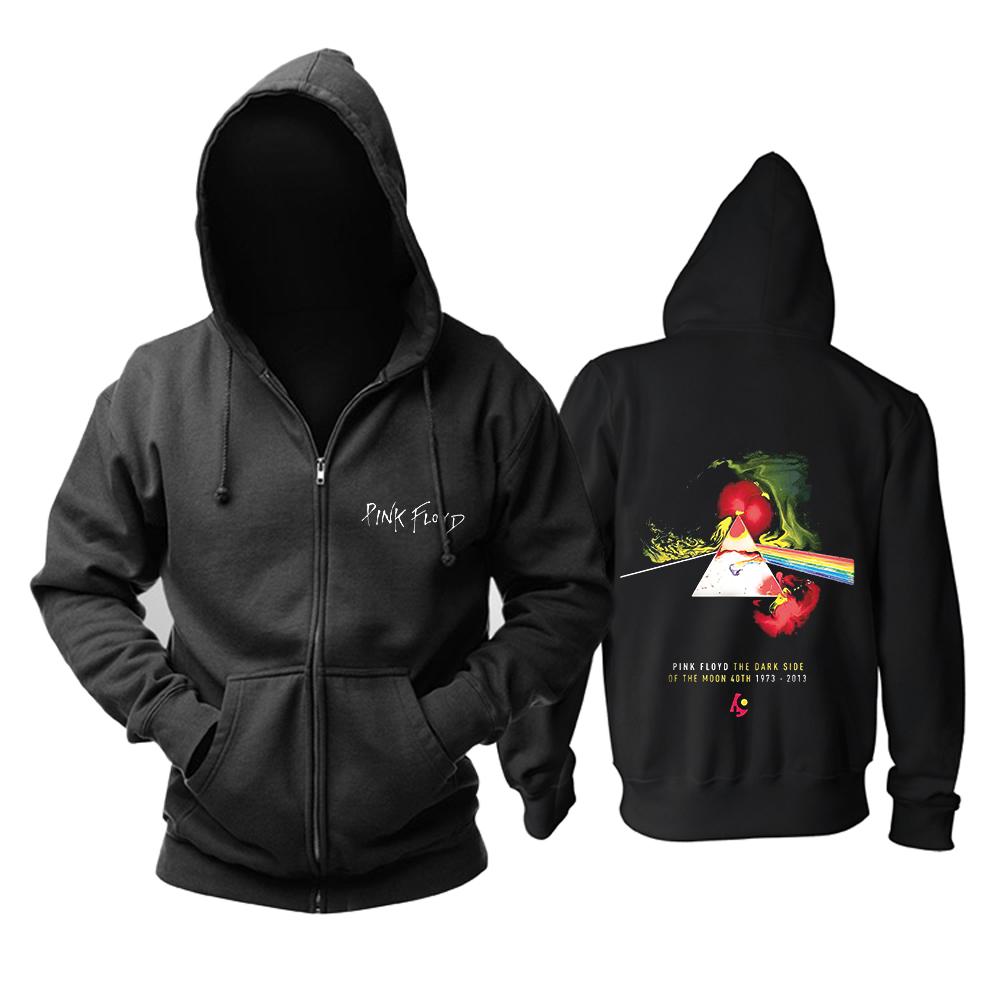 Merch Hoodie Pink Floyd The Dark Side Of The Moon 40Th Black Pullover
