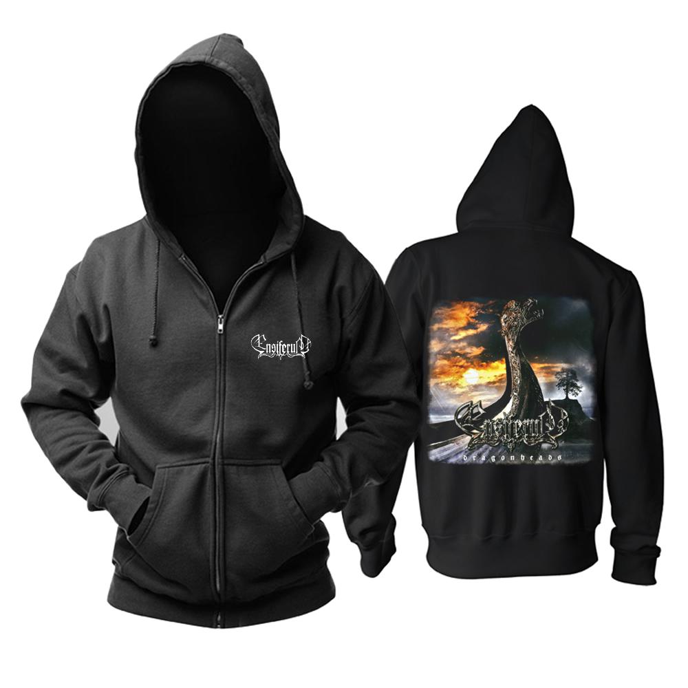 Merchandise Hoodie Ensiferum Dragonheads Black Pullover