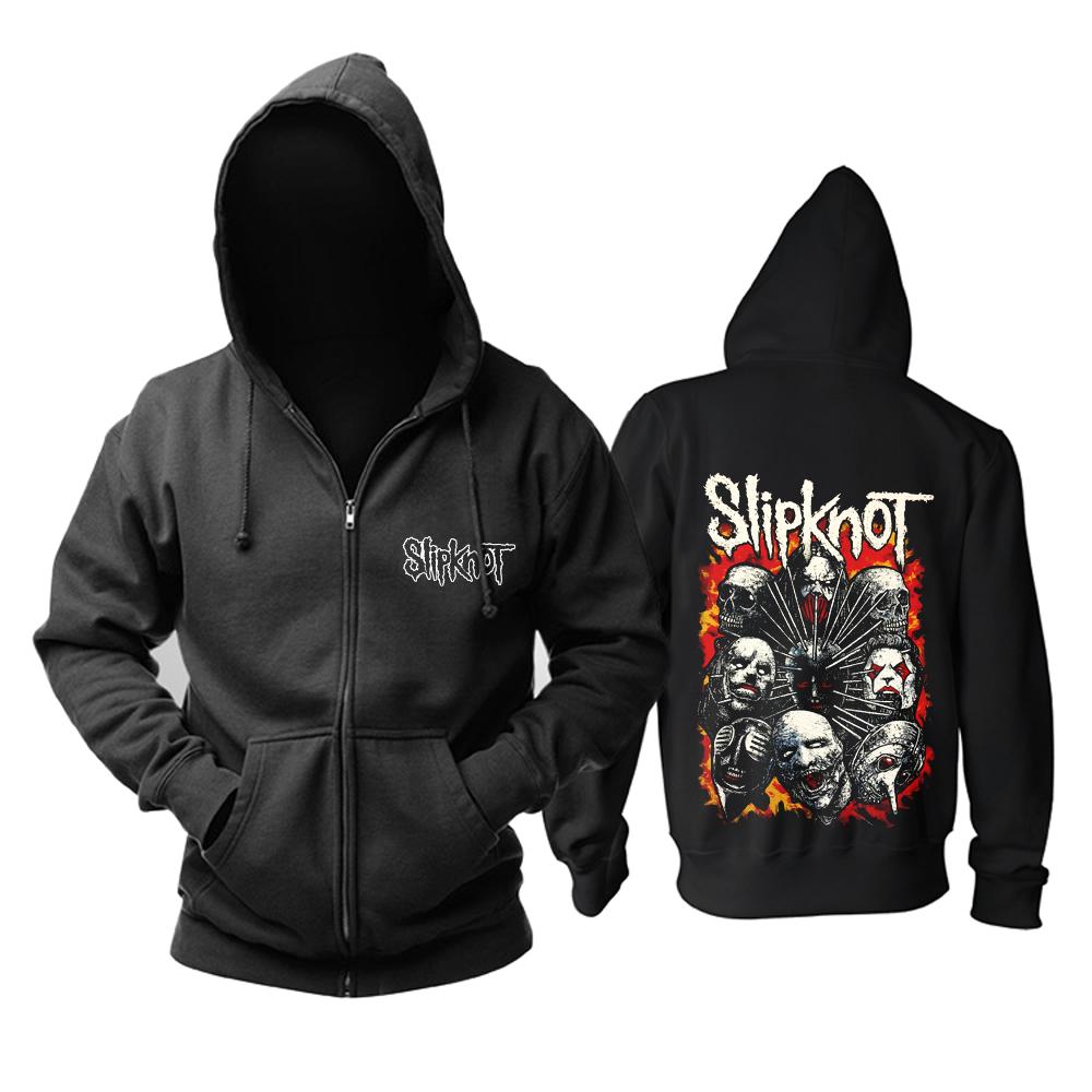 Merch Hoodie Slipknot'S Masks Metal Band Pullover