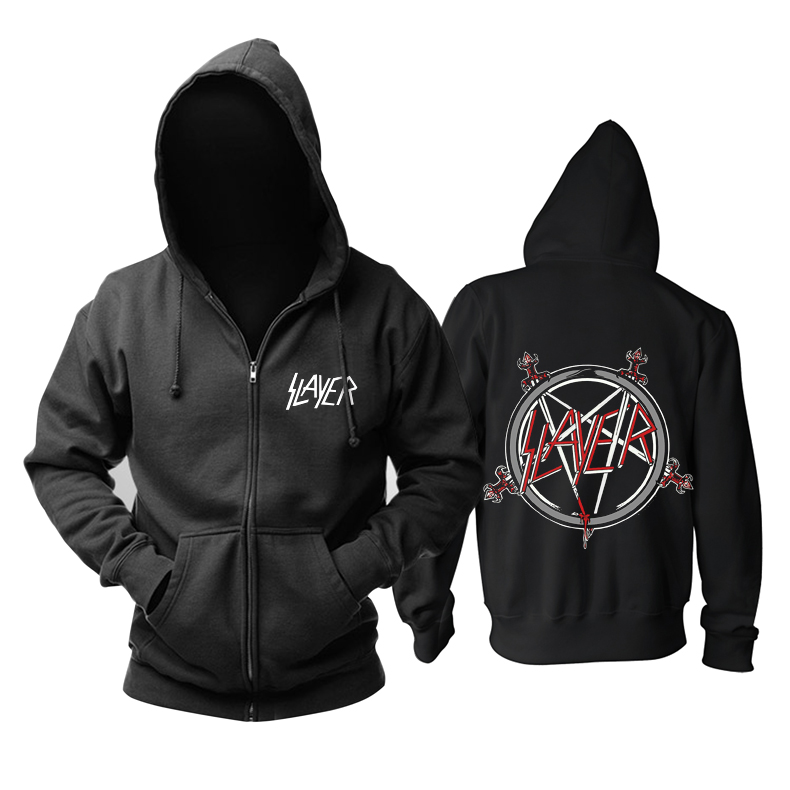 Merch Hoodie Slayer Logo Thrash Metal Pullover