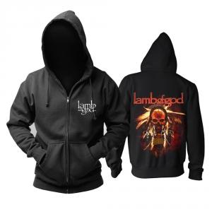 Merchandise Hoodie Lamb Of God Gas Mask Skull Pullover