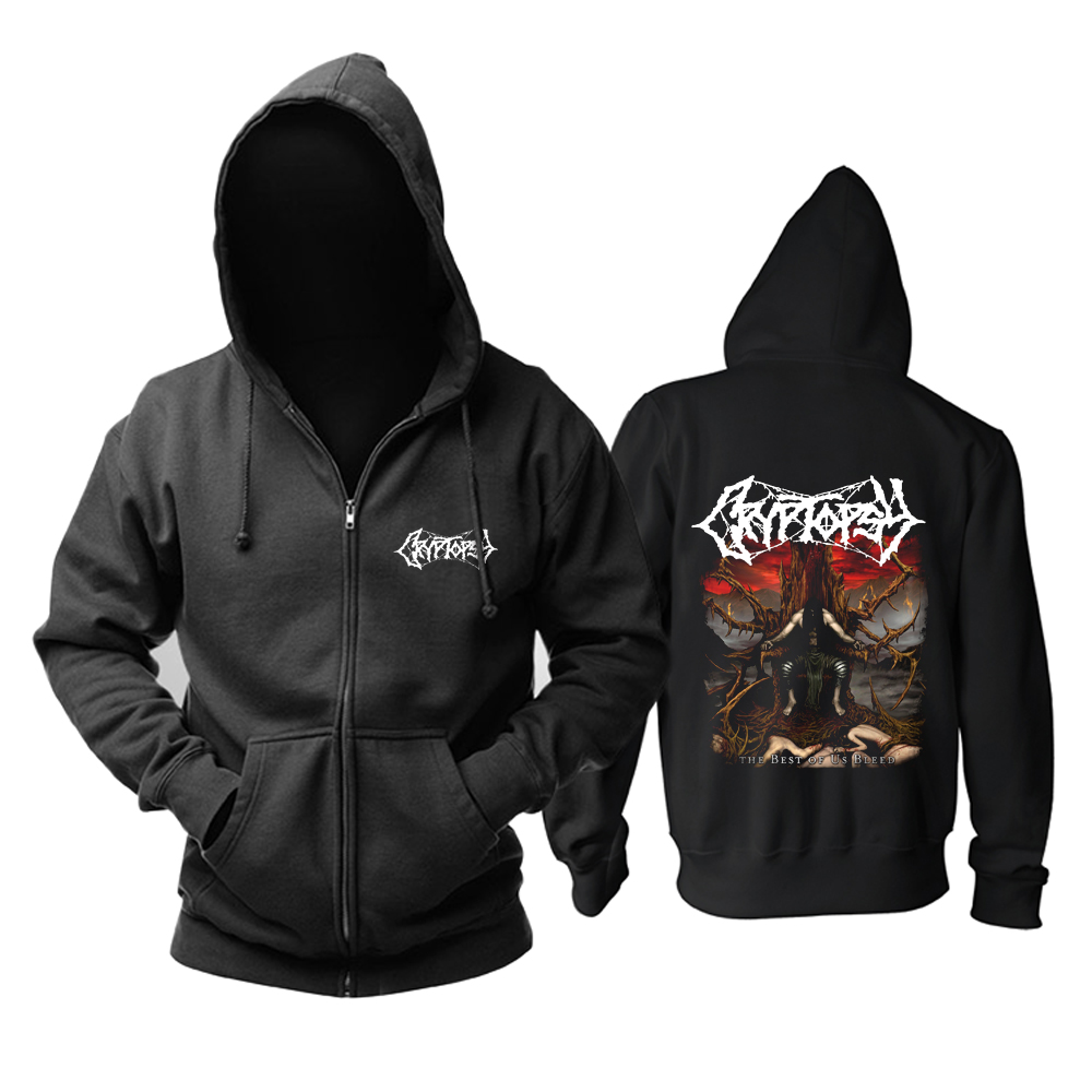 Merch Hoodie Cryptopsy The Best Of Us Bleed Pullover