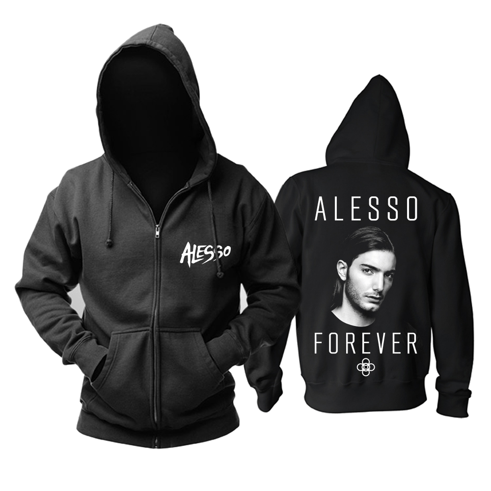Merch Hoodie Dj Alesso Forever Black Pullover