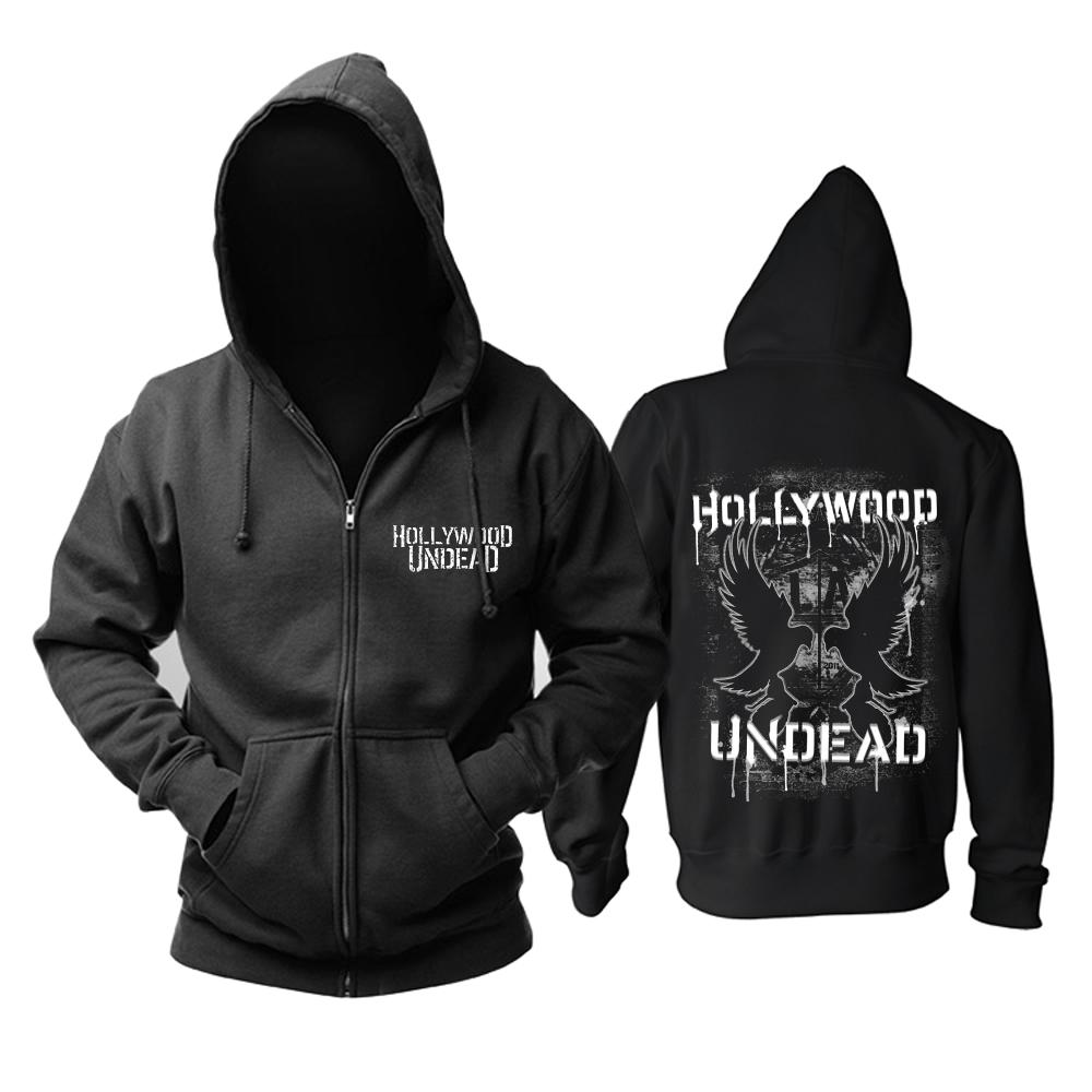 Merchandise Hoodie Hollywood Undead Logo Black Pullover
