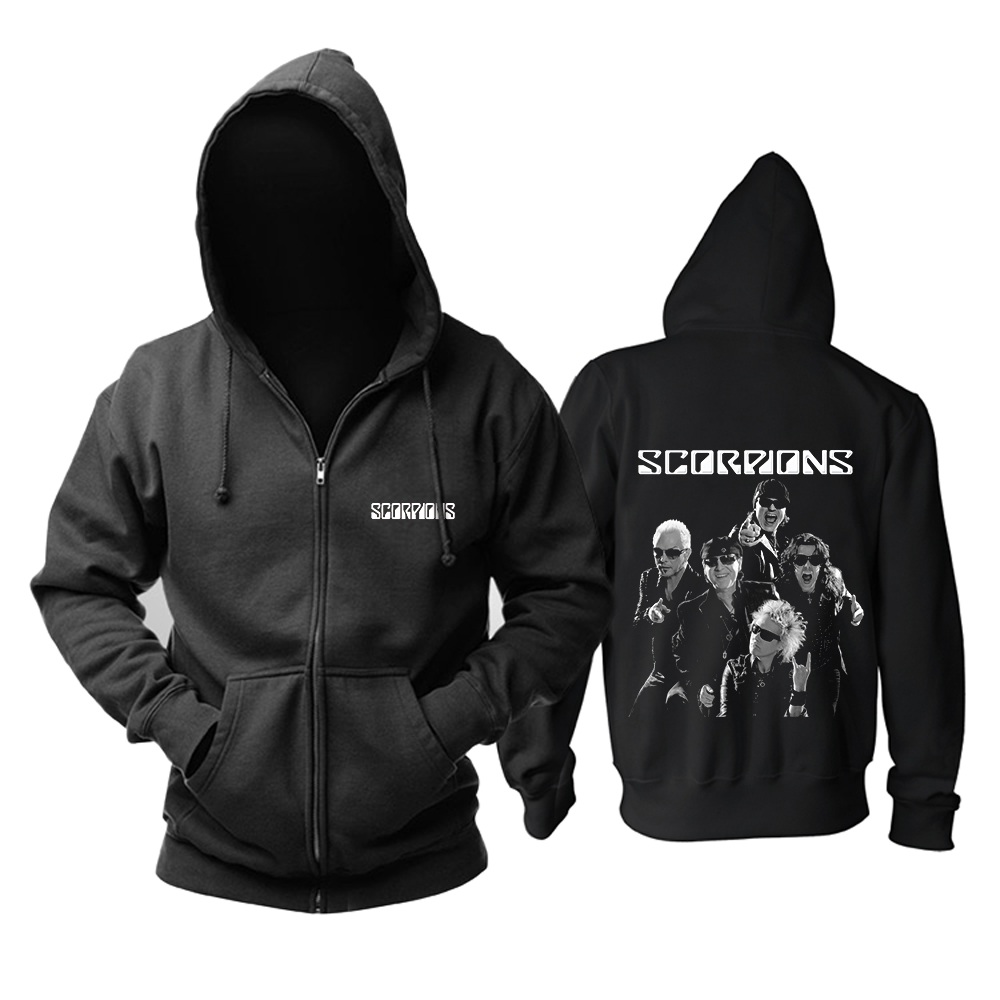 Merch Hoodie Scorpions Rock Band Pullover