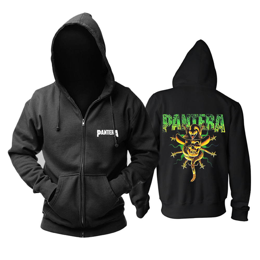 Collectibles Black Hoodie Pantera Groove Metal Pullover