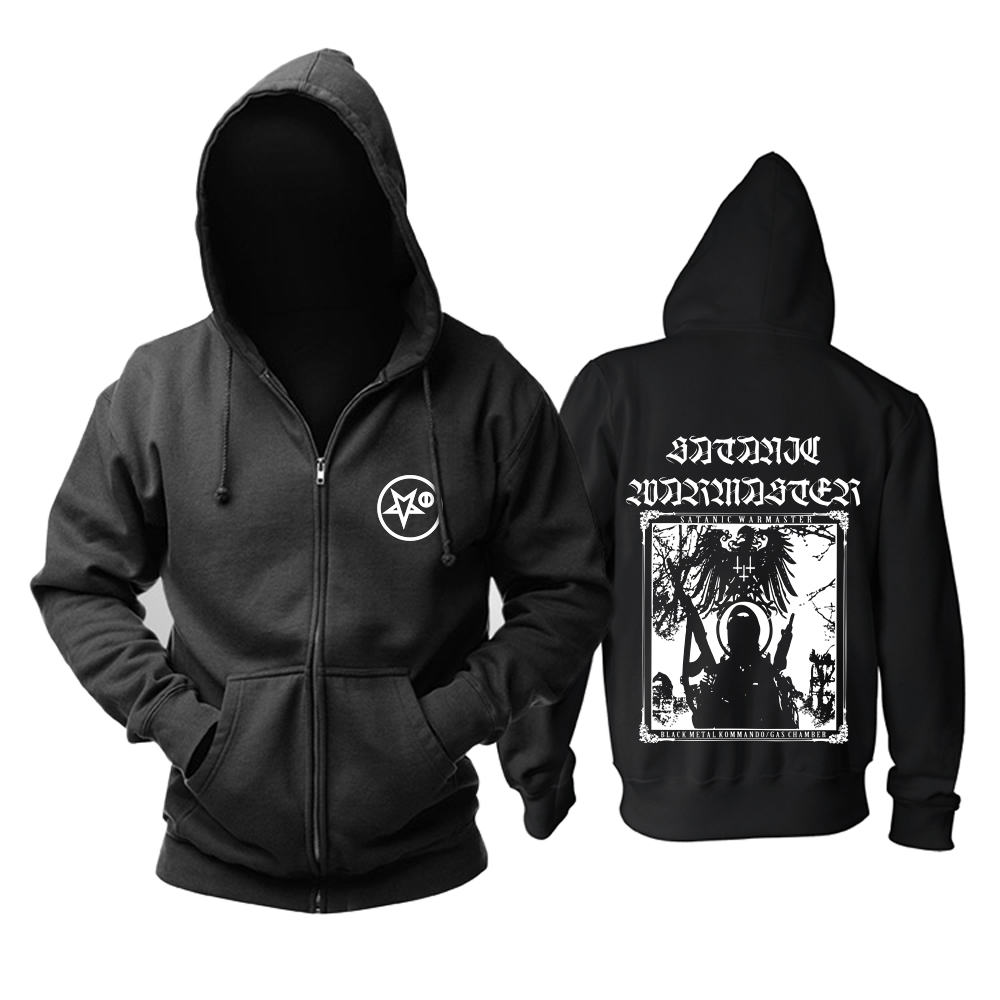 Merch Hoodie Satanic Warmaster Black Metal Kommando Pullover