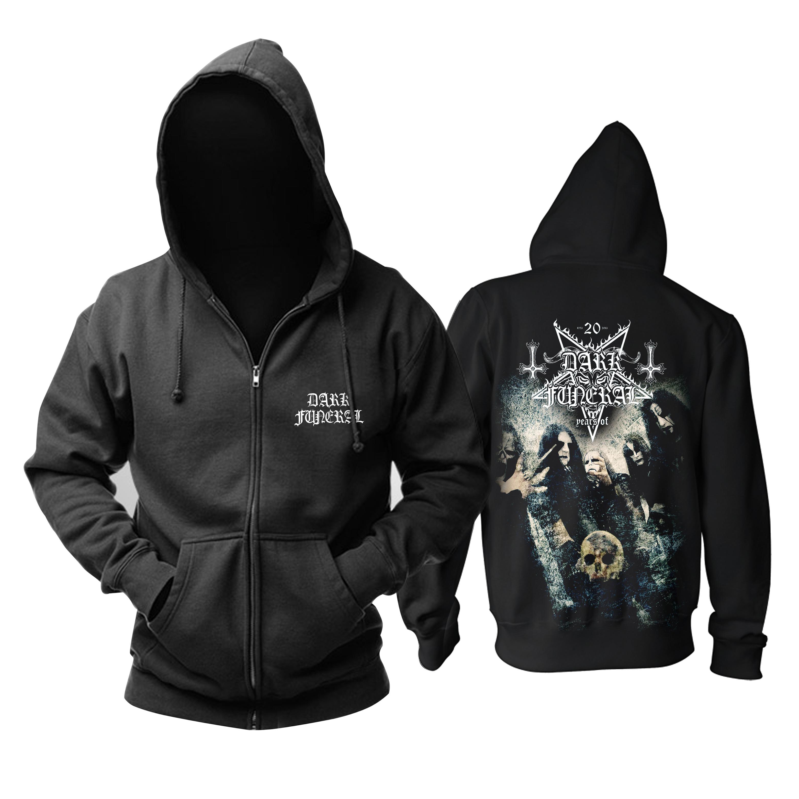 Merchandise Dark Funeral Hoodie Black Metal Band Pullover