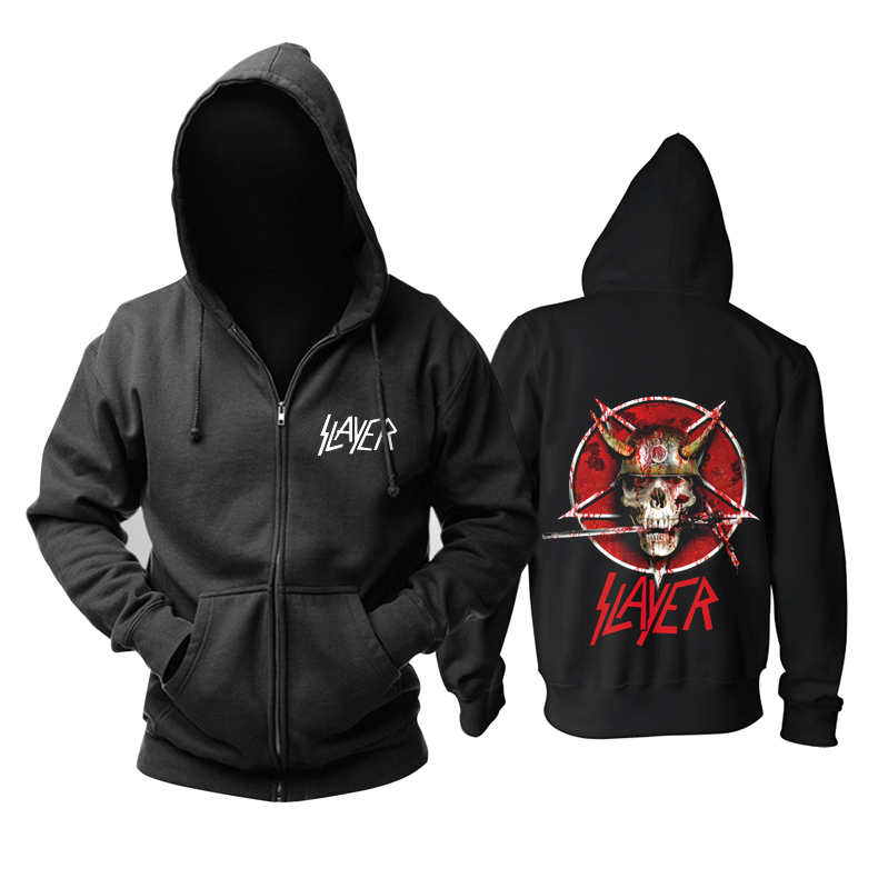 Collectibles Hoodie Slayer Band Logo Skull Pullover