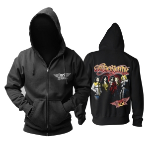 Collectibles Hoodie Aerosmith Rock Band Black Pullover