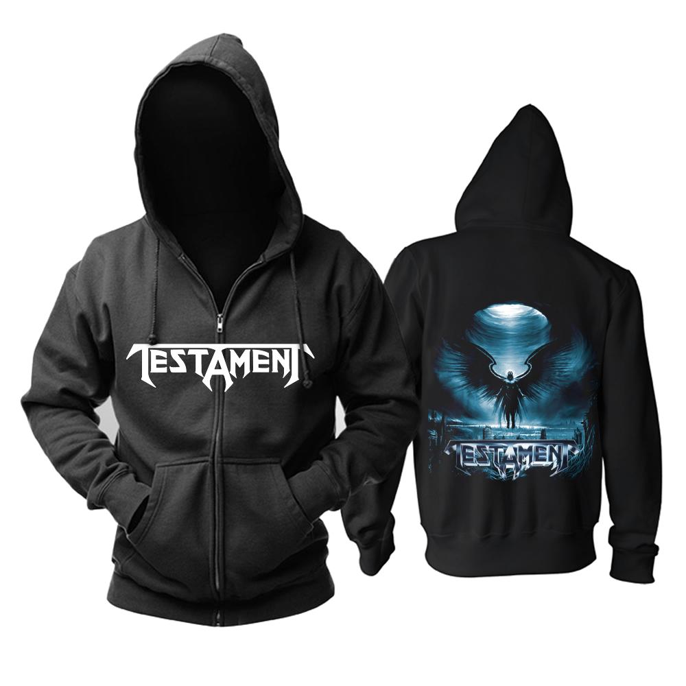 Merchandise Hoodie Testament Black Angel Pullover