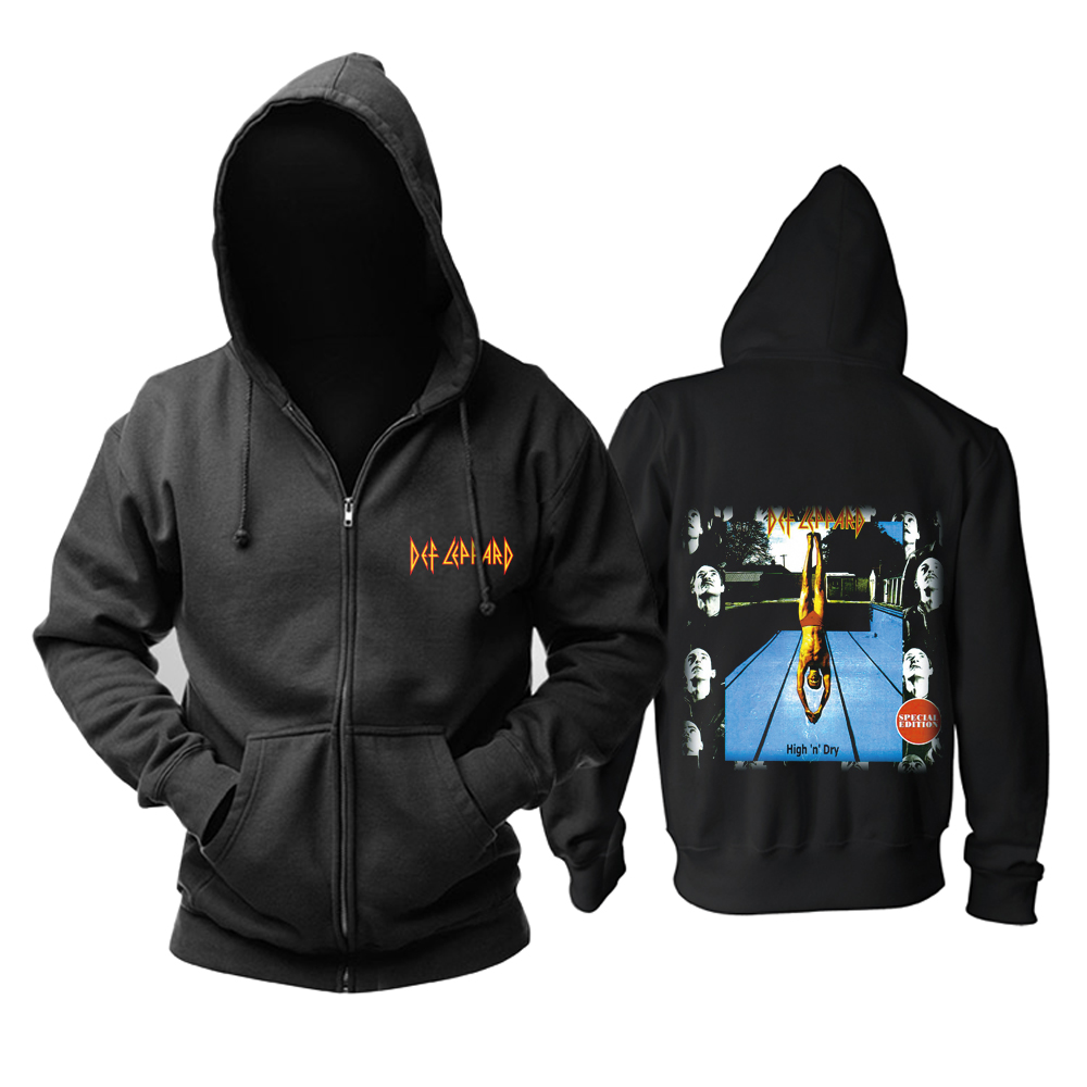 Collectibles Hoodie Def Leppard High 'N' Dry Pullover