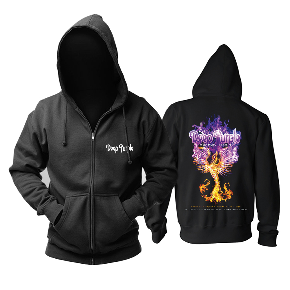 Merch Hoodie Deep Purple Phoenix Rising Pullover