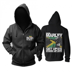 Merch Hoodie Bob Marley Get Up Stand Up Pullover