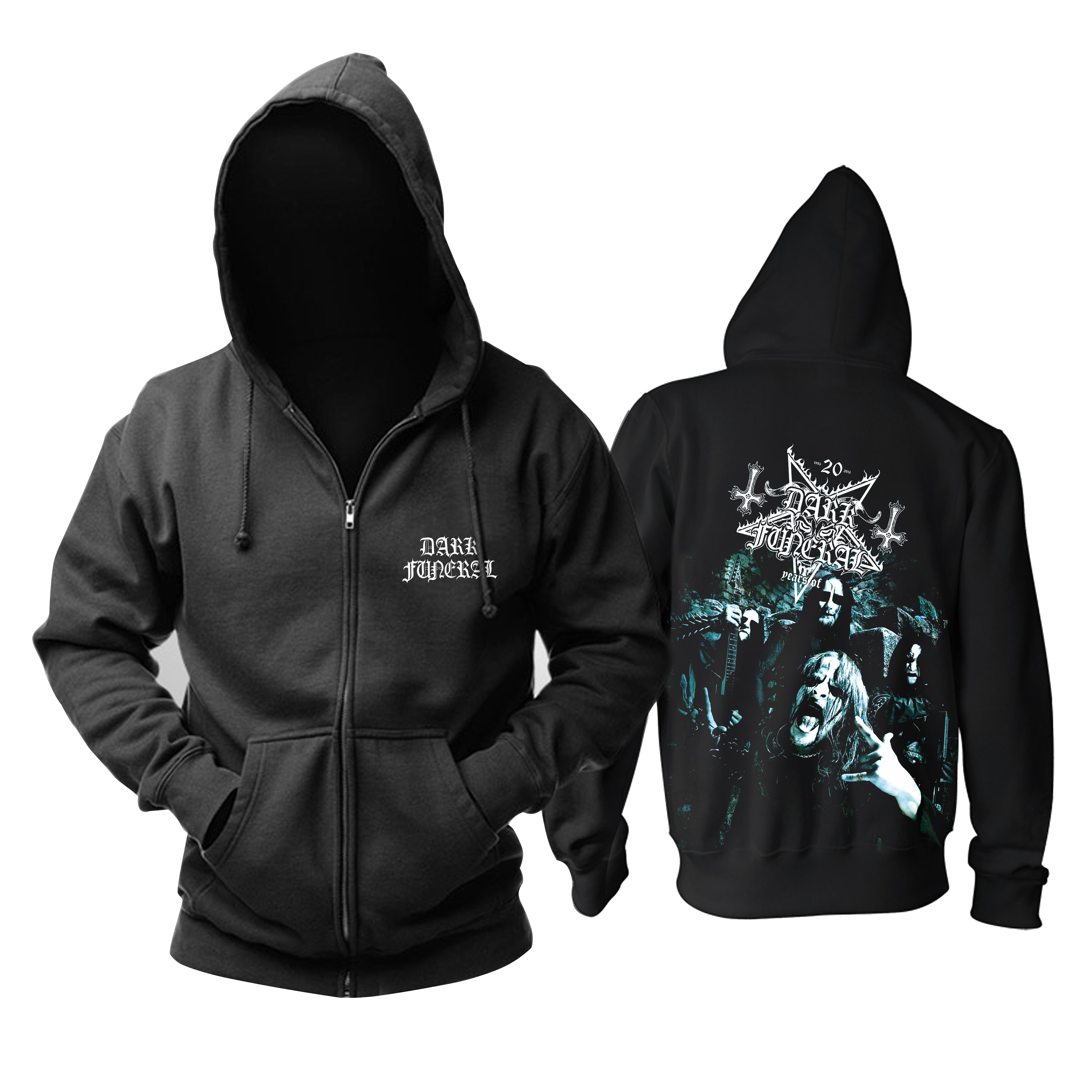 Collectibles Hoodie Dark Funeral Metal Band Black Pullover