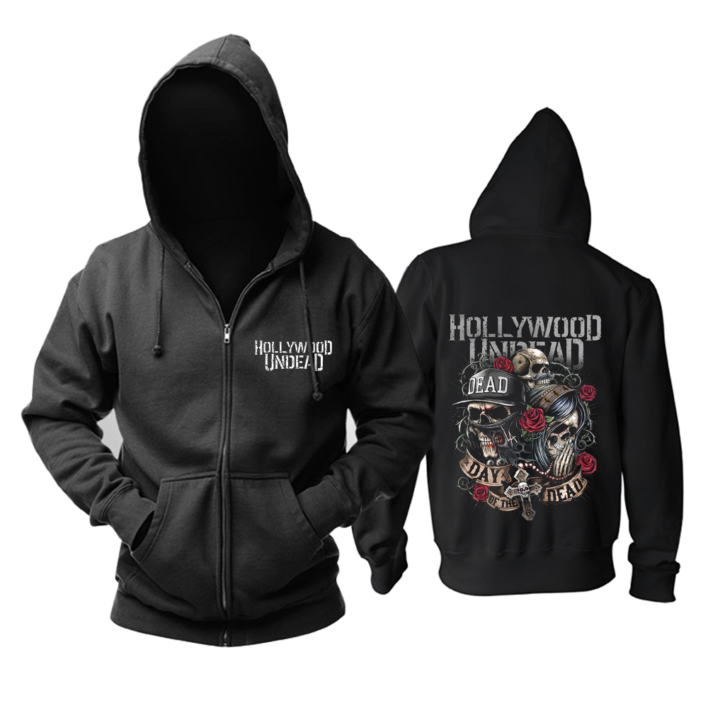 Merch Hoodie Hollywood Undead Day Of The Dead Logo Pullover