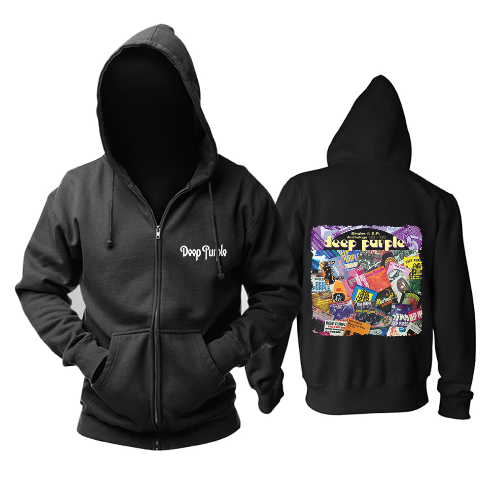 Collectibles Hoodie Deep Purple Singles &Amp; E.p. Anthology '68-'80 Pullover