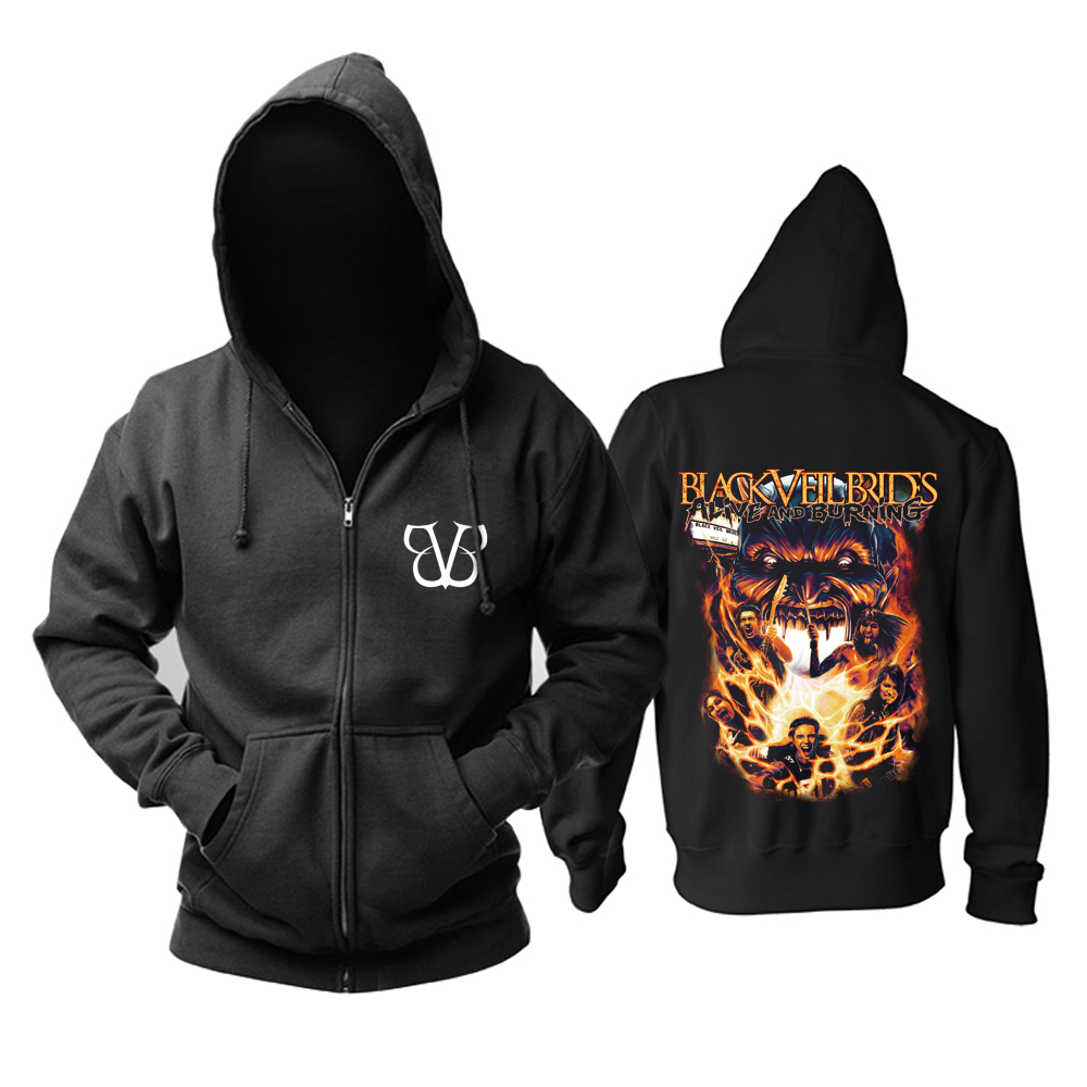 Collectibles Hoodie Black Veil Brides Alive And Burning Pullover