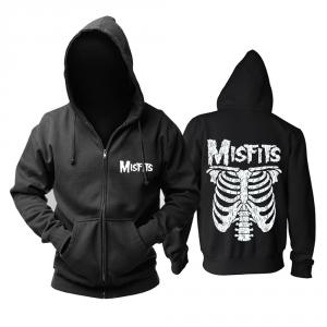 Merch Hoodie Misfits Ribs Black Pullover