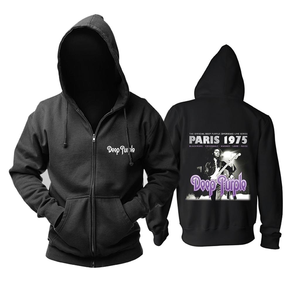 Merch Hoodie Deep Purple Live In Paris 1975 Pullover