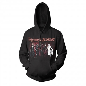 Merch Hoodie Nocturnal Bloodlust Deathcore Band Pullover