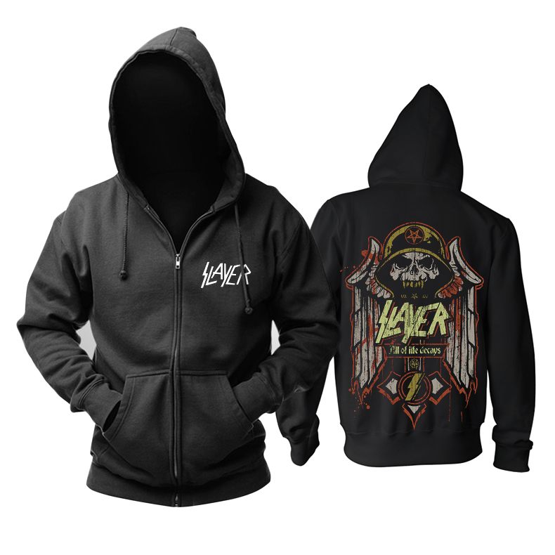 Merchandise Hoodie Slayer All Of Life Decays Pullover