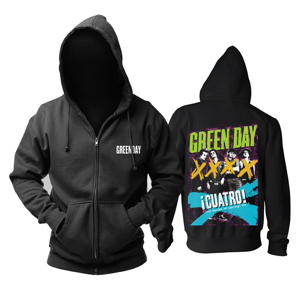 Merchandise Hoodie Green Day ¡Cuatro! Pullover