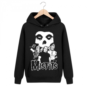 Merch Hoodie Misfits Punk Rock Band Pullover