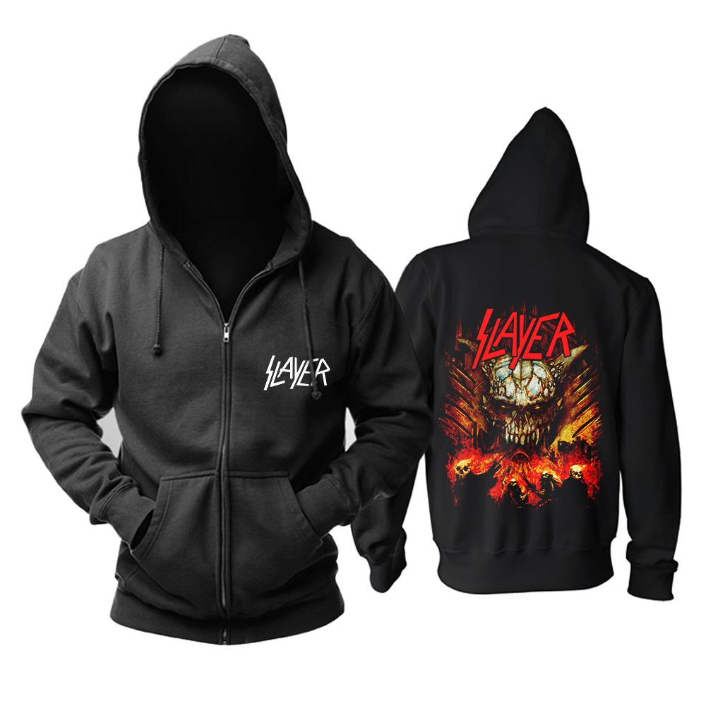 Merch Hoodie Slayer Metal Black Sweater Pullover