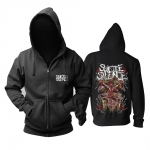 Merchandise Black Hoodie Suicide Silence Deathcore Pullover