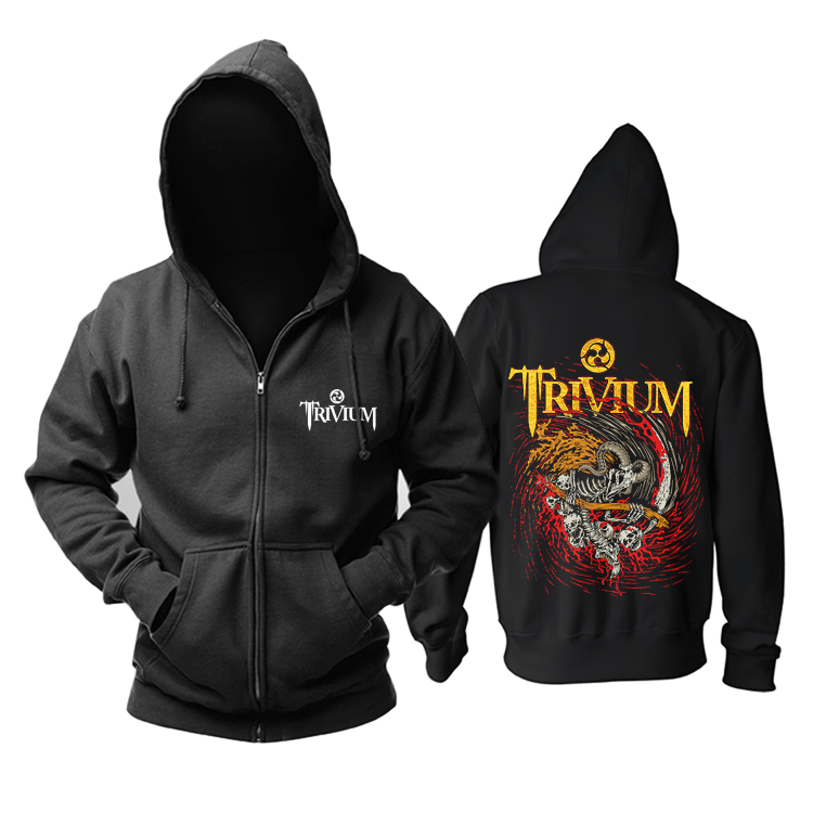 Merch Hoodie Trivium Metal Music Pullover