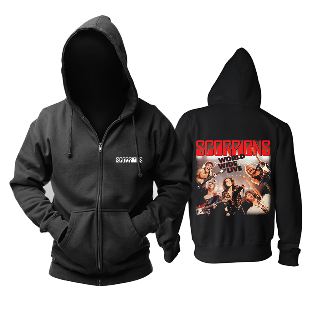 Merch Hoodie Scorpions World Wide Live Pullover