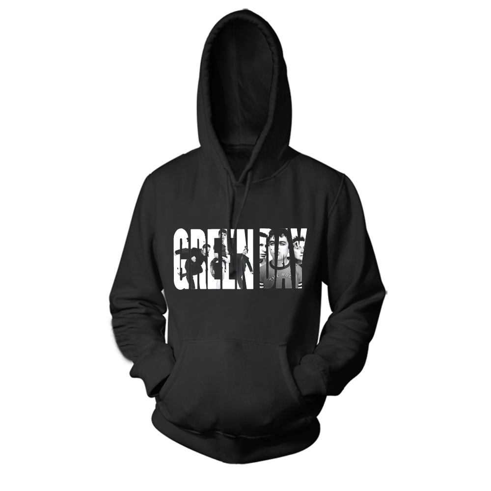Collectibles Hoodie Green Day Rock Band Logo Pullover