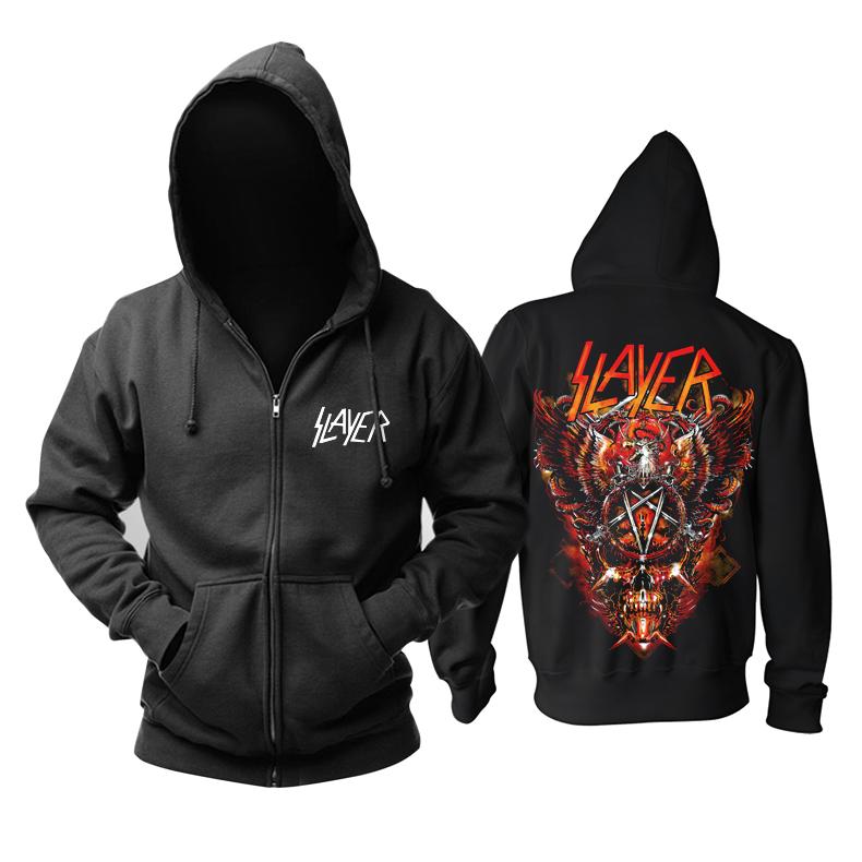 Merch Hoodie Slayer Thrash Metal Pullover