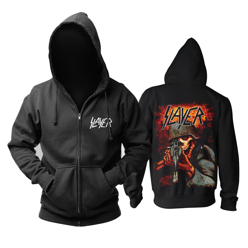 Collectibles Hoodie Slayer Trash-Metal Music Pullover