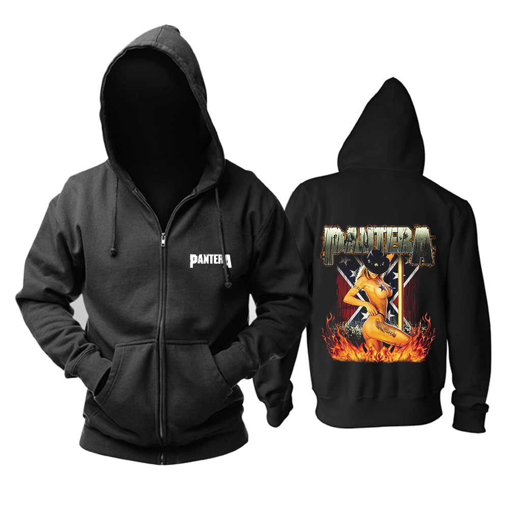 Collectibles Hoodie Pantera Groove Metal Music Pullover