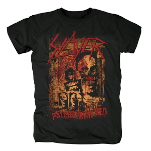 Merch T-Shirt Slayer Psychopathy Red