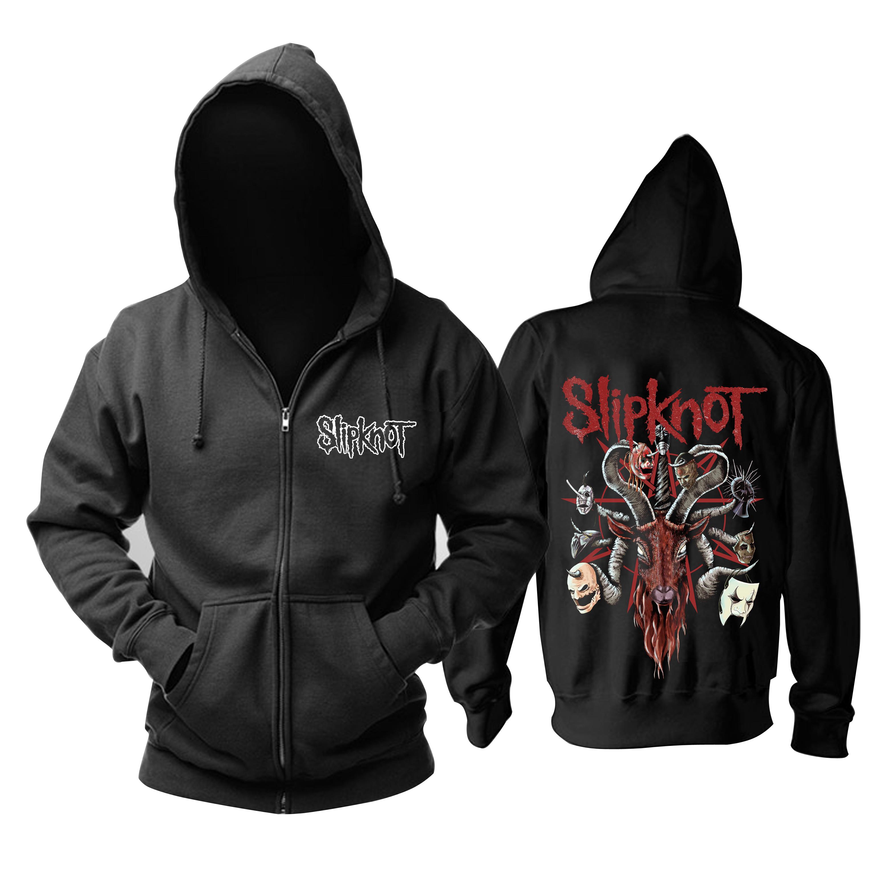Merchandise Hoodie Slipknot Goat Masks Pullover
