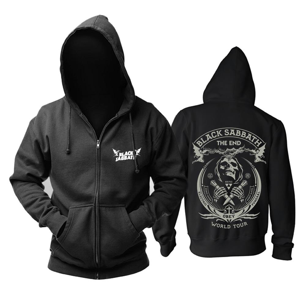 Merch Hoodie Black Sabbath The End World Tour Pullover