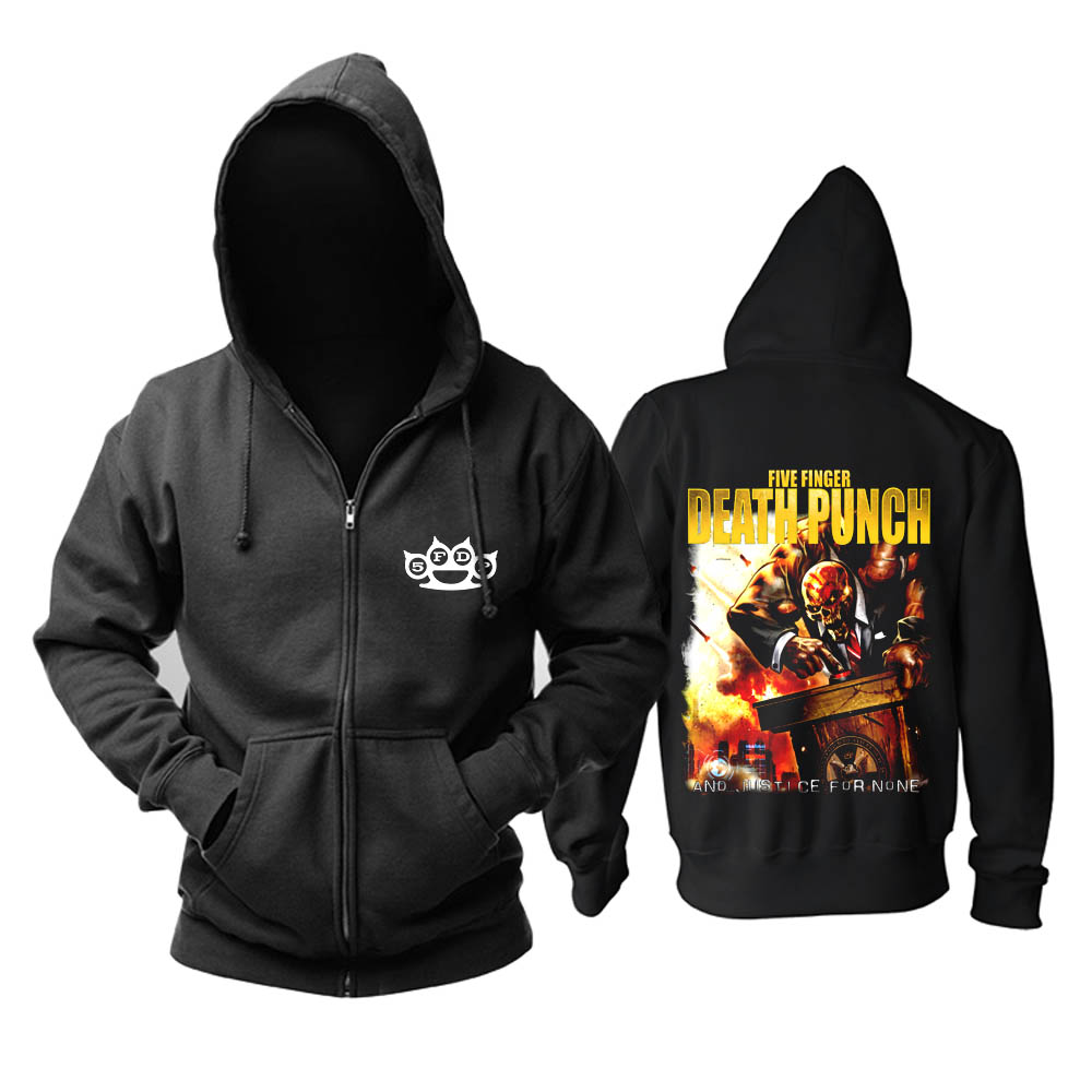 Merchandise Hoodie Five Finger Death Punch And Justice For None Pullover