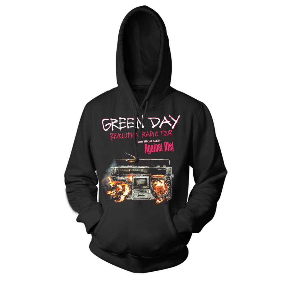 Collectibles Hoodie Green Day Revolution Radio Tour Pullover