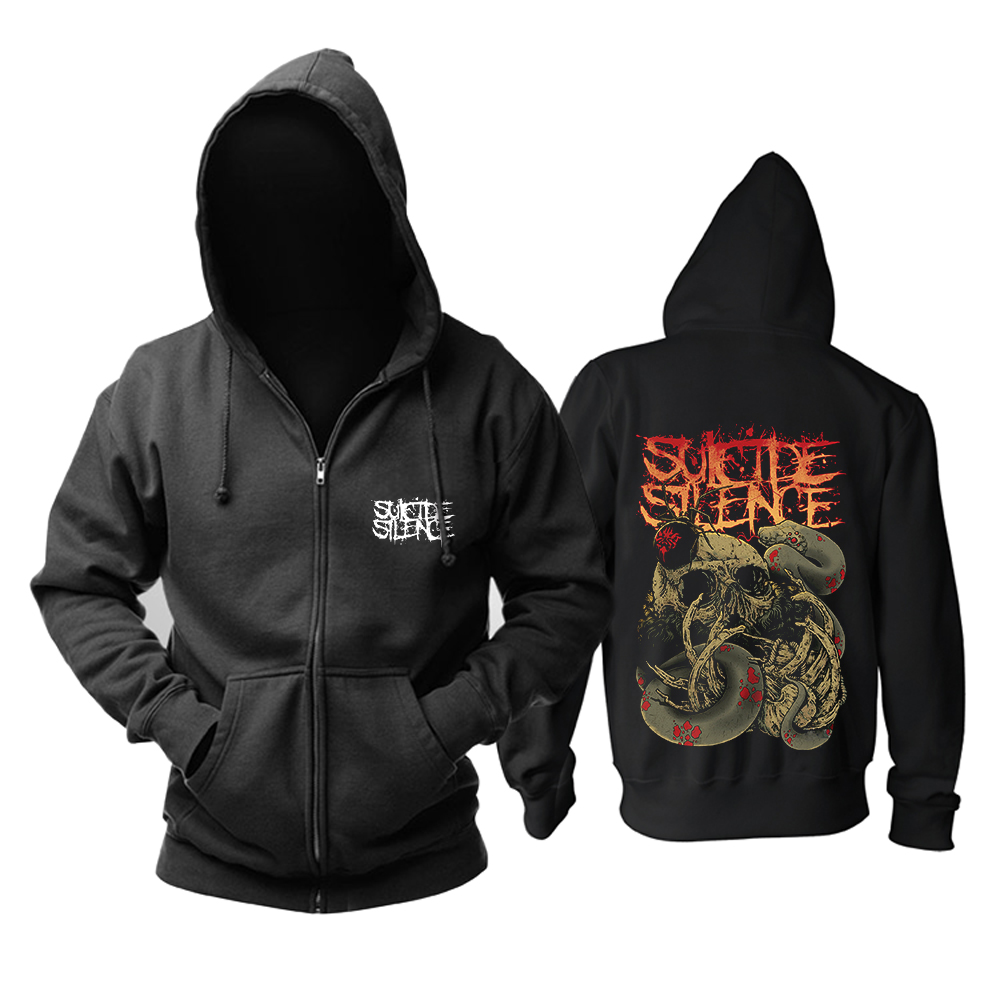 Collectibles Hoodie Suicide Silence Deathcore Black Pullover